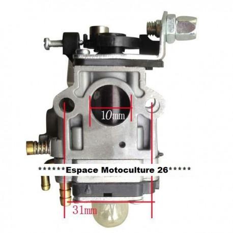 """Carburateur """"10mm"""" de Débroussailleuse Chinoise de 26 à 35cc"""