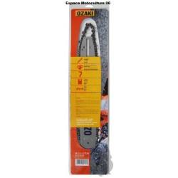 Guide de tronçonneuse 40cm et Chaine 3/8Lp 57E de Marque OZAKI