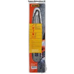 Guide de tronçonneuse 40cm et Chaine 3/8Lp 56E de Marque OZAKI