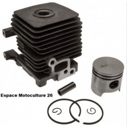 Cylindre piston ø34mm adaptable STIHL FS55 - HS45 - FS38 - FS45 - FS46 - BG45 - BG46 - BG55 - BG65 - SH85 - BR45 - KM55