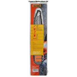 Guide de tronçonneuse 50cm et Chaine 3/8 - 72E de Marque OZAKI