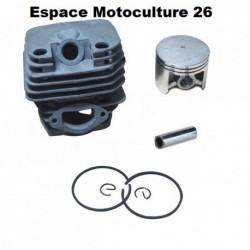 Cylindre piston ø45mm pour Tronçonneuse Chinoise 4500 - 5200 - 5800