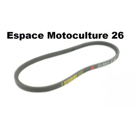 Courroie lisse série Z (section 10x6mm) Longueur ext: 928mm