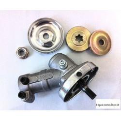 Renvoi d'angle de débroussailleuse - Entrainement Carré de 5x5mm et Diamètre de Tube 28mm
