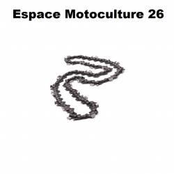 Chaîne de tronçonneuse PAS 3/8 Lp - 1,3mm .050 - 44 entraineurs - Semi-carrée