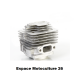 Cylindre piston ø44mm pour Débroussailleuse Mitsubishi TL52 - MTD BC52 - RYOBI RBC42FSB - BG520 ou CG520