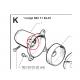 """Roulement à double étanchéité """"6202-RS"""" de marque MTK"""