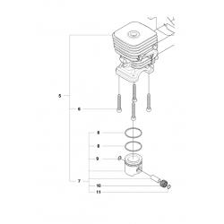 Cylindre piston d'origine HUSQVARNA 327HE3X