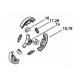 Embrayage d'origine STIHL 044 - MS341 - MS361 - MS440 - MS460