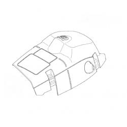 """Capot moteur d'origine HUSQVARNA 353 """"Modèle à clipser et avec pompe d'amorçage"""""""