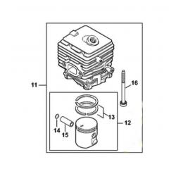 Cylindre piston d'origine STIHL SH56 - SH56C - BG56 - BG56C