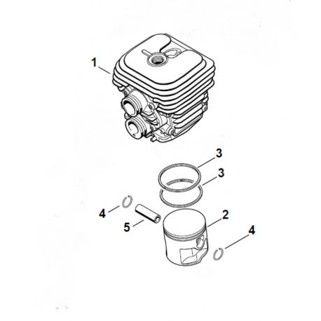 Cylindre piston ø50mm drigine STIHL TS410 - TS420