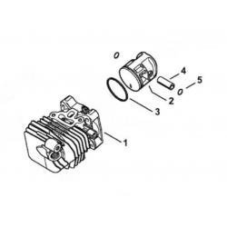 Cylindre piston ø34mm d'origine STIHL MS150T - MS150TC - MS150TCE