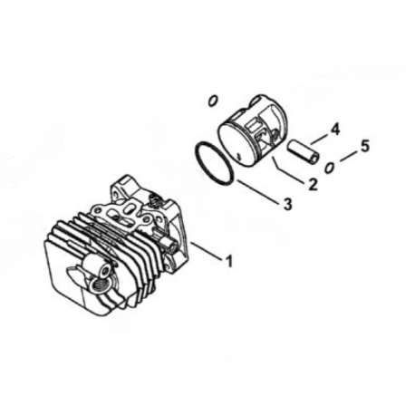 Cylindre piston ø34mm d'origine STIHL MS150T