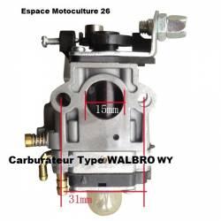 """Carburateur """"15mm"""" pour débroussailleuse chinoise de 36cc à 63cc """"1E40-5"""" ou """"1E44F-5"""""""