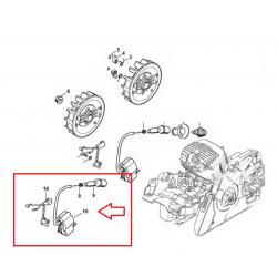 Bobine / Module d'allumage d'origine STIHL MS271 - MS271C - MS291 - MS291C