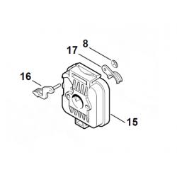 Boitier de filtre à air d'origine STIHL HS75 - HS80 - HS85 - FS75 - FS80 - FS85 - BG75 -FC75 - HT75