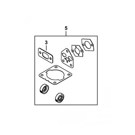 Pochette de joint / Jeu de joints d'origine STIHL FS50C-E - FS56RC-E - FS70C-E