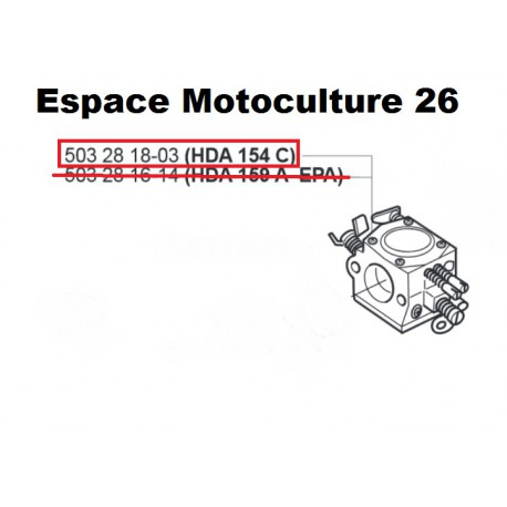 "Carburateur d'origine ""WALBRO HDA154C"" JONDERED 2150 - 503283208"