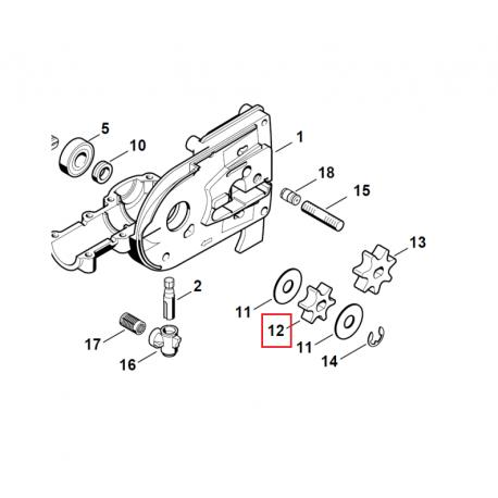 Pignon 6 dents PAS 3/8 picco d'origine pour accessoire STIHL HT - KM