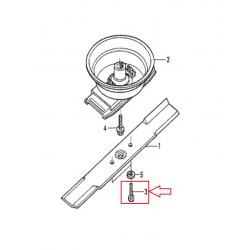 Boulon / Vis de lame 10x28 d'origine HONDA UM536