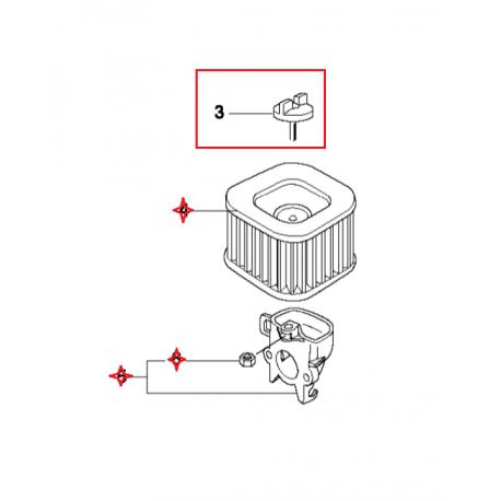 Support de filtre à air HD d'origine HUSQVARNA 372XP X-TORQ