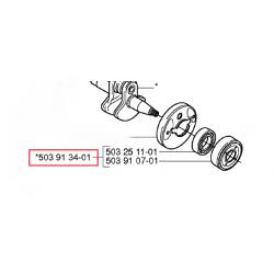 Roulement + joint spi d'origine HUSQVARNA 235R