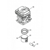 """Cylindre piston ø44mm d'origine STIHL FR410C - FS460C - FS460RC - FR460TC """"nouveau montage"""""""