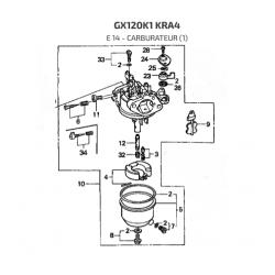 Carburateur d'origine pour moteur HONDA GX120 / GX120K1