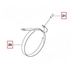 Carter / Couvercle de filtre à air d'origine JONSERED CS2236T