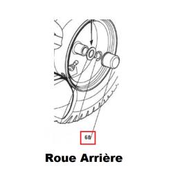 Cache écrou / Cache moyeu de roue arrière d'origine STIGA