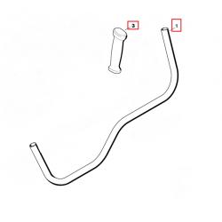 Poignée tubulaire / Guidon d'origine STIHL FS85 - FS120 - FS130 - FS260 - FS350 - FS360C - FS450 - FS550 - KM130