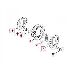 Rondelle de recouvrement d'embrayage d'origine STIHL FS87 - FS90 - FS100 - FS110 / KM94RC / HL95 / HT100 etc...