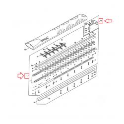 Barre de coupe complète / Lamier 750mm d'origine STIHL HS82R