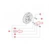 Ressort de cliquer d'origine HUSQVARNA / PARTNER K650 - K700 - K750 - K760 - K950 - K960