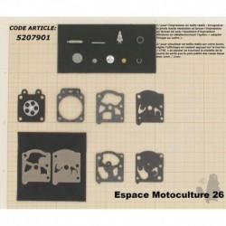 """Kit de membrane et réparation pour carburateur WALBRO WT / WAT """"K22-WAT"""""""