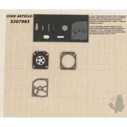 Kit membrane pour carburateur ZAMA C1Q monté sur STIHL FS38 - FS75 - FS80 - FS85 - HT70 - HT75 - MS170 2-MIX