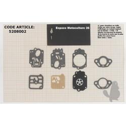 """Kit Membrane de carburateur """"TILLOTSON"""" Montée sur STIHL 034 - 038"""
