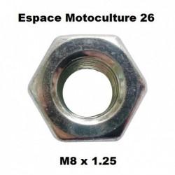 Écrou pour renvoi d'angle M8 x 1.25 (pas à gauche)