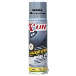 Graisse verte au zinc X'OIL - Bombe aérosol de 250ML