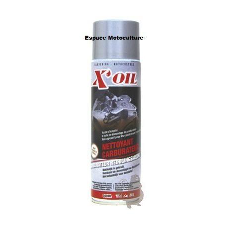 Nettoyant pour carburateur de marque X-OIL - Bombe Aérosol de 500ml