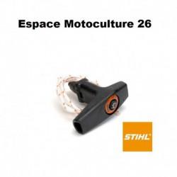 Poignée de lanceur ElastoStart avec corde de ø3,5mm d'origine STIHL