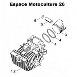 Cylindre piston ø37mm d'origine pour Tronçonneuse / Élagueuse STIHL MS192T / MS192TC Référence d'origine: 1137 020 1203 / 11370